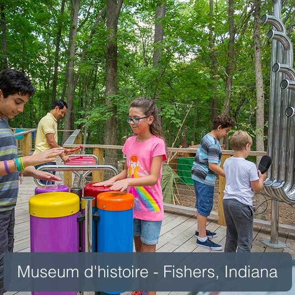 aire musicale percussion play dans le parc de fishers
