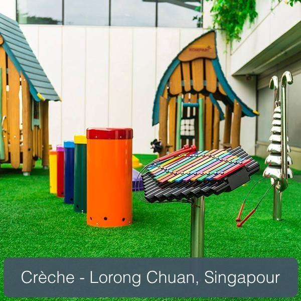 aire musicale percussion play dans la crèche de lorong chuan