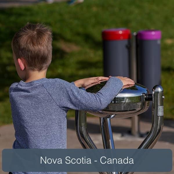 nova scotia aménagement musical de plein air parcs aires de jeux percussion play